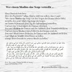 Wer einem Muslim eine Sorge vertreibt …
